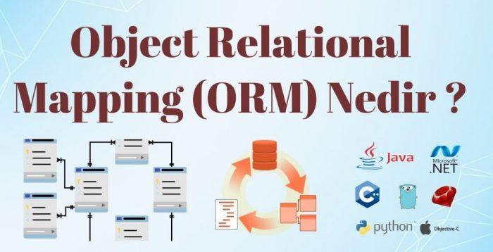 Object Relational Mapping (ORM) Kavramı Nedir ?