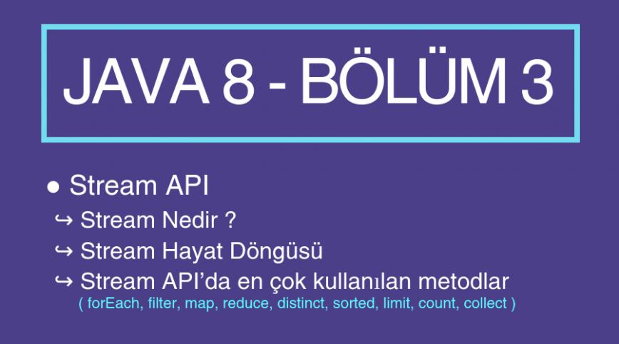 Java 8 Yenilikleri – Bölüm 3